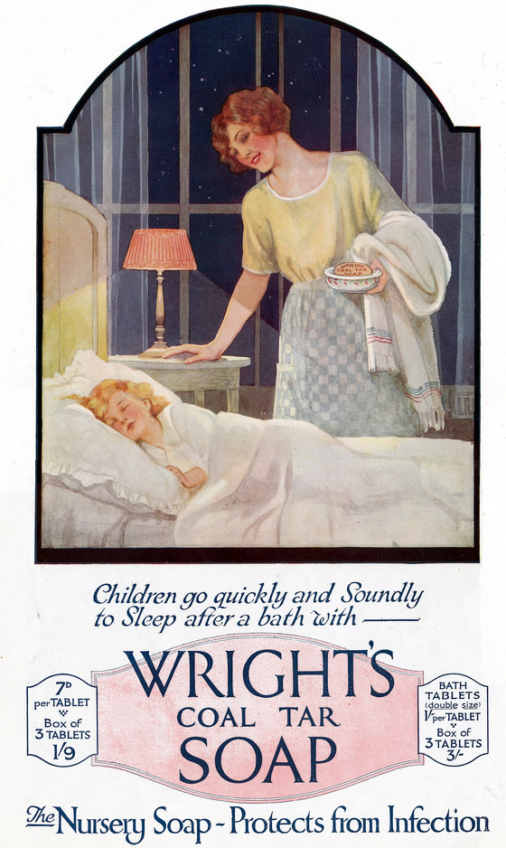Wright's Coal Tar Soap Ad from 1922